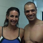 Ethan Stone on Speedo shoot with Olympic gold medalist Summer Sanders