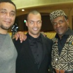 Ethan Stone on the se of H4 with Harry Lennix (L) and Keith Davide (R)