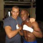 Ethan Stone with Floyd Mayweather, Jr