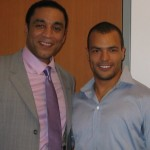 Ethan Stone with Harry Lennix
